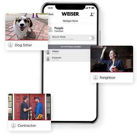 Different scenarios for Weiser app fingerprint door lock usage