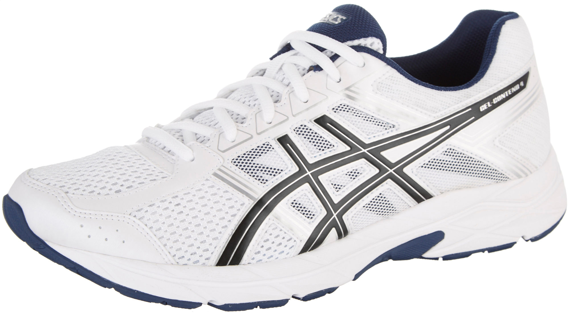 ASICS GEL-Contend 4 Running Shoe(Men's) -Silver/Classic Blue/Black