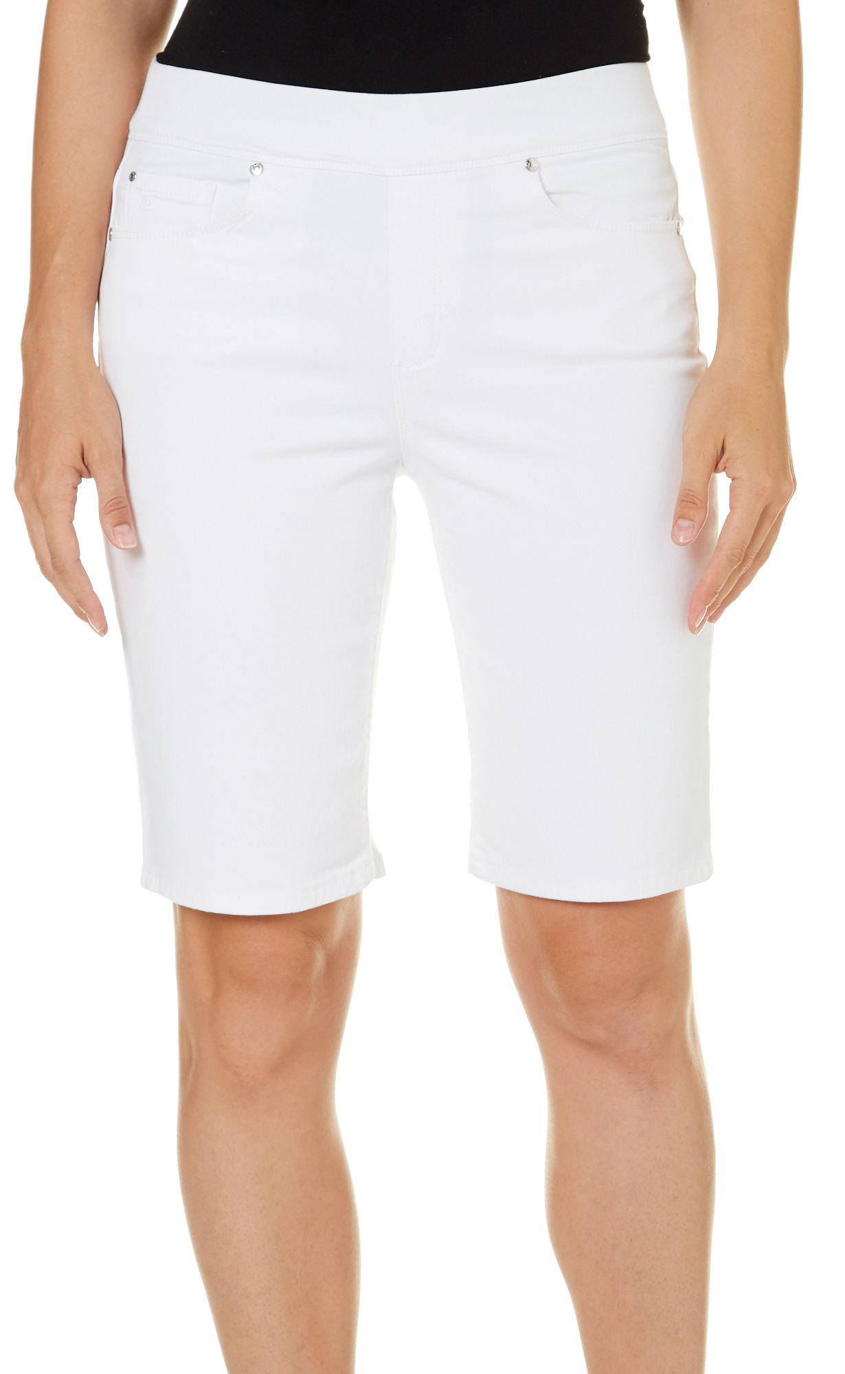 48b46b05b6409 Gloria Vanderbilt Womens Avery Shorts 16 Shell White. About this product.  Picture 1 of 2  Picture 2 of 2