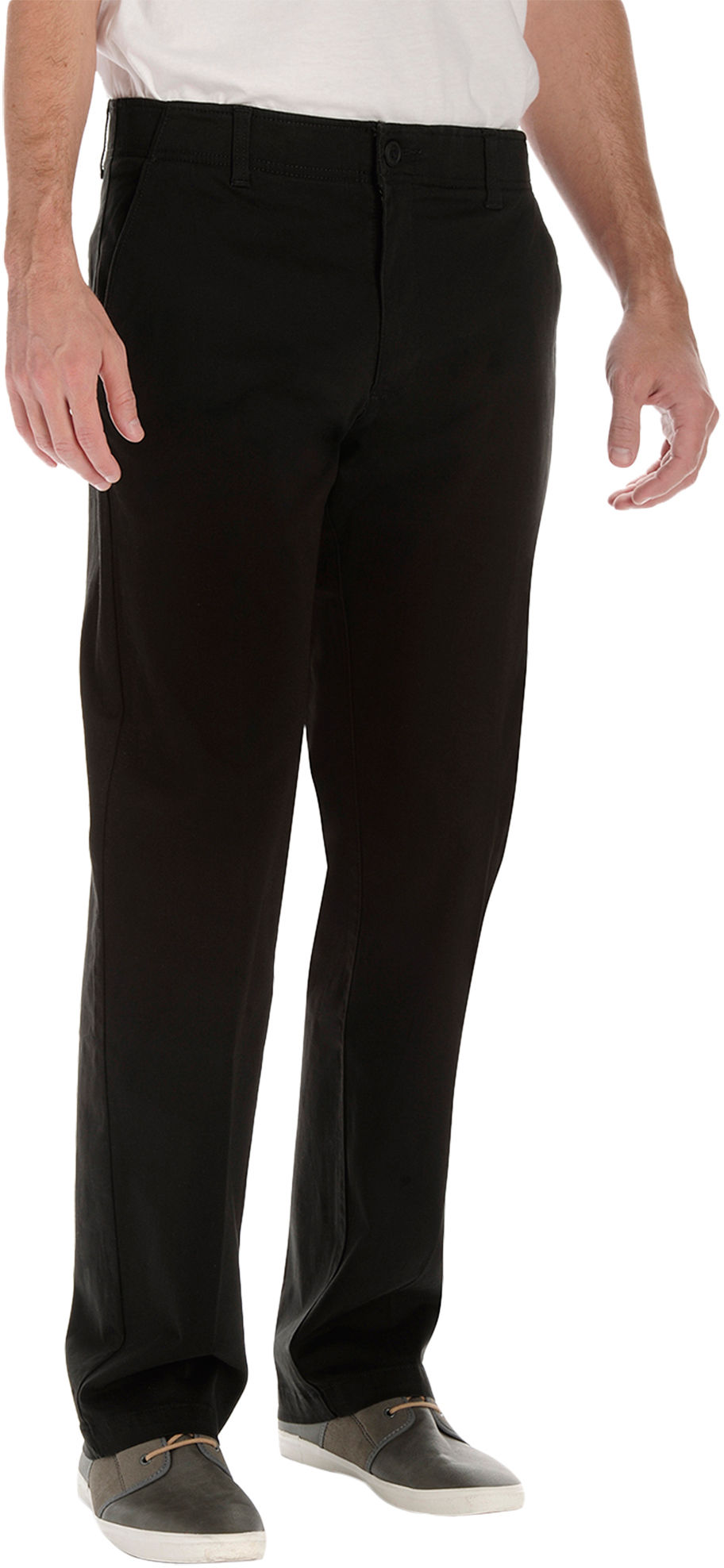 64e2fd9259c Lee Mens Big   Tall Xtreme Comfort Chino Pants 46w X 32l 32 Black. About  this product. Picture 1 of 2  Picture 2 of 2