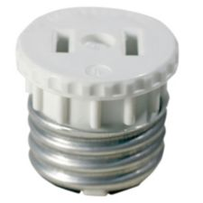 Leviton Medium Base Lampholder To Outlet Adapter 00125 00w Canadian Tire