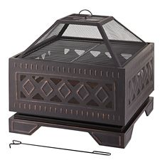 For Living Maddox Wood Square Fire Bowl | Canadian Tire on For Living Lawrence Fire Pit id=60472