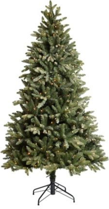 Canvas Pre Lit Powdered Peak Fir Tree, 7 Ft by Canadian Tire