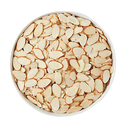 Lone Star Nut & Candy Sliced Raw Natural Almonds, sold by the pound