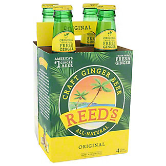 Reed's Jamaican Style Ginger Ale Bottles 4 Pack,12 OZ