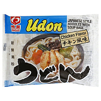 Myojo Chicken Flavor Japanese Style Udon Noodles With Soup Base, 7.22 oz