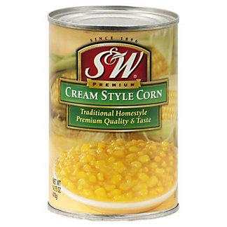 S&W S & W Cream Style Corn, 15 OZ
