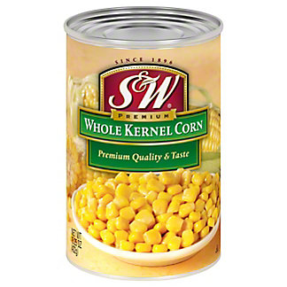 S&W Premium Whole Kernel Corn, 15.25Z