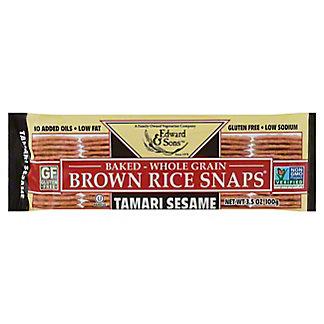Edward & Sons Tamari Sesame Brown Rice Snaps,3.5 OZ
