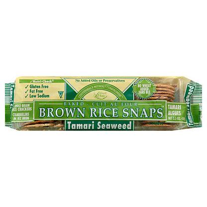Edward & Sons Tamari Seaweed Brown Rice Snaps, 3.5 OZ