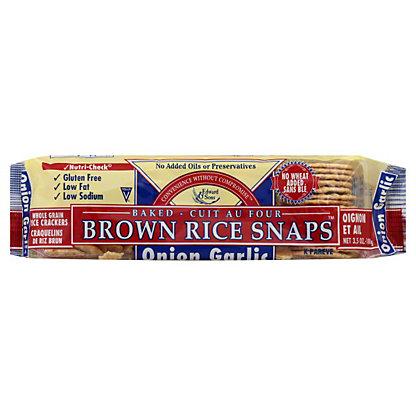 Edward & Sons Onion Garlic Rice Snaps,3.5 OZ