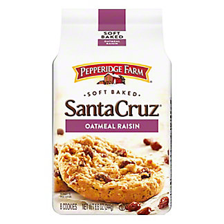 Pepperidge Farm Santa Cruz Soft Baked Oatmeal Raisin Cookies,7.2 OZ