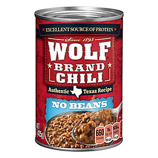 Wolf No Beans Chili, 15 oz