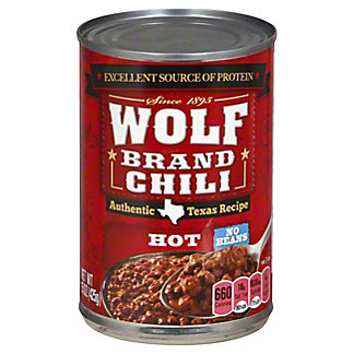 Wolf Hot No Beans Chili, 15 oz