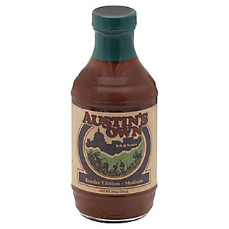 Austin's Own Border Edition Medium BBQ Sauce, 18 oz