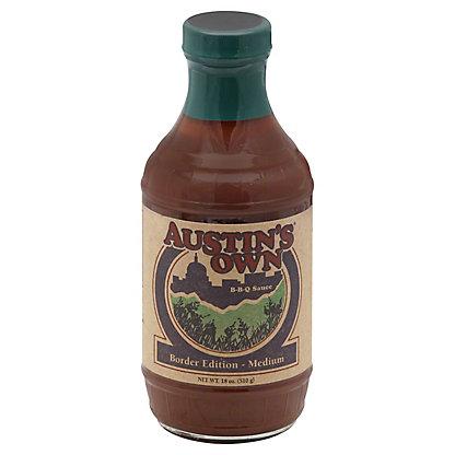 Austin's Own Border Edition Medium BBQ Sauce, 18 oz