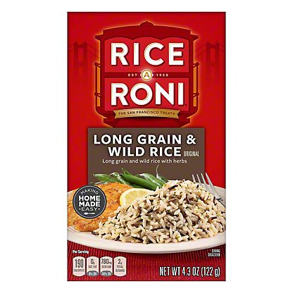 Rice A Roni Long Grain And Wild Rice, 4.30 oz