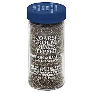 Morton & Bassett Coarse Ground Black Pepper,1.8 OZ