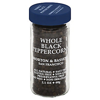 Morton & Bassett Whole Black Peppercorns,2.1 OZ