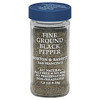 Morton & Bassett Fine Ground Black Pepper,2 OZ