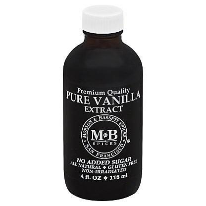 Morton & Bassett Pure Vanilla Extract,4.00 oz