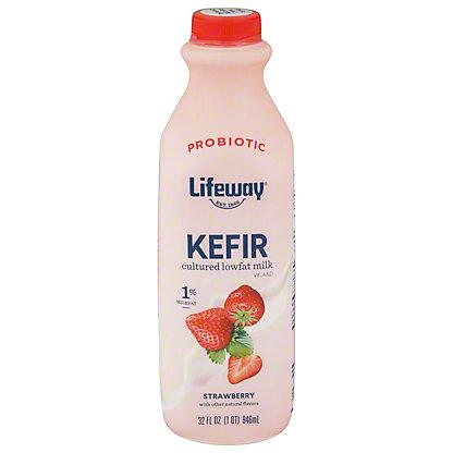 Lifeway Lowfat Strawberry Kefir Cultured Milk Smoothie, 32 oz