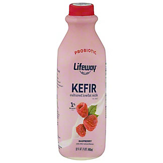 Lifeway Lowfat Raspberry Kefir Cultured Milk Smoothie, 32 OZ