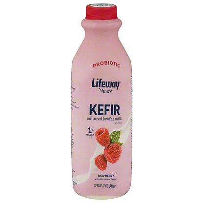 Lifeway Lowfat Raspberry Kefir Cultured Milk Smoothie, 32 OZ