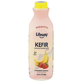 Lifeway Strawberry-Banana Kefir Cultured Milk Smoothie, 32 oz
