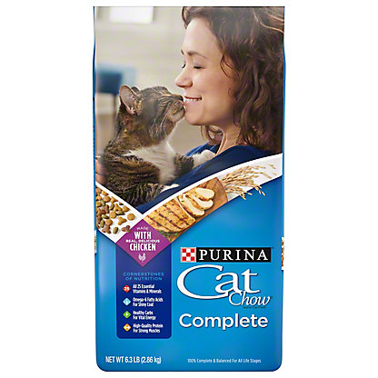 Purina Cat Chow Complete Cat Food, 6.3 lb