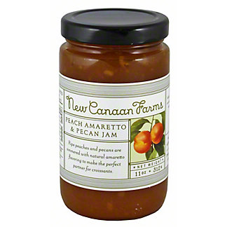 New Canaan Farms Peach Amaretto & Pecan Jam, 11 oz