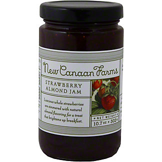 New Canaan Farms Strawberry & Almond Jam,10.5 Z