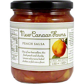 New Canaan Farms Peach Salsa, 1.07 lb