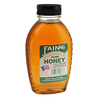 Fain's Natural Pure Raw Honey, 16 oz