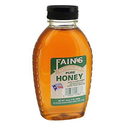 Fain's Natural Pure Raw Honey, 16 oz