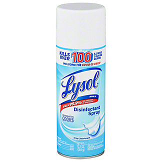 Lysol Crisp Linen Scent Disinfectant Spray, 12.5 oz