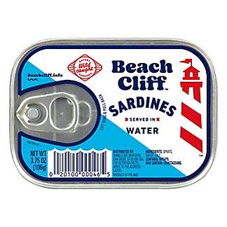 Beach Cliff Sardines in Water, 3.75 oz