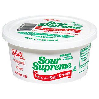 Tofutti Sour Supreme Non-Dairy Vegan Sour Cream, 12 oz