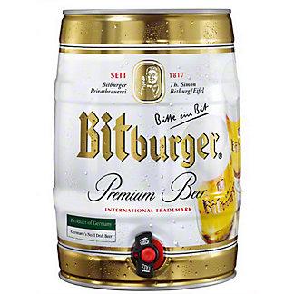 Bitburger Premium Beer Mini Keg, 5 LTR