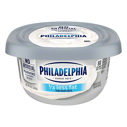 Kraft Philadelphia 1/3 Less Fat Cream Cheese, 8 oz
