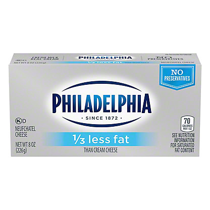 Kraft Philadelphia 1/3 Less Fat Neufchatel Cheese,8 oz