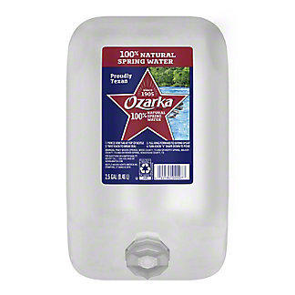 Ozarka 100% Natural  Spring Water, 2.5 gal