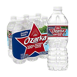 Ozarka Natural Spring Water 6 PK,0.5 LTR