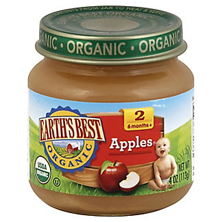Earth's Best Organic Stage 2 Apples, 4 oz