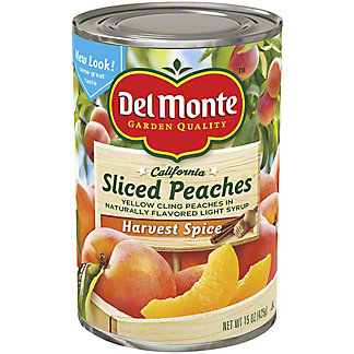 Del Monte California Sliced Peaches in Naturally Flavored Light Syrup Harvest Spice, 15 oz