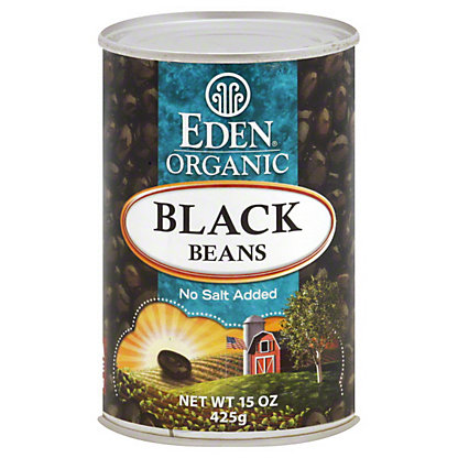 Eden Organic Black Beans, No Salt Added, 15 oz