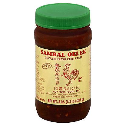 Sambal Oelek Ground Fresh Chili Paste,8.00 oz