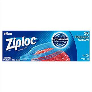 Ziploc Double Zipper Freezer Gallon Bags Value Pack, 28 ct