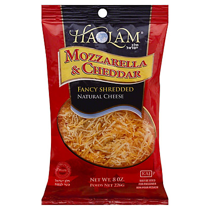 Haolam Mozzarella and Cheddar Fancy Shredded Cheese,8 OZ