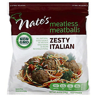 Nate's Meatless Meatballs Zesty Italian,10.5 oz
